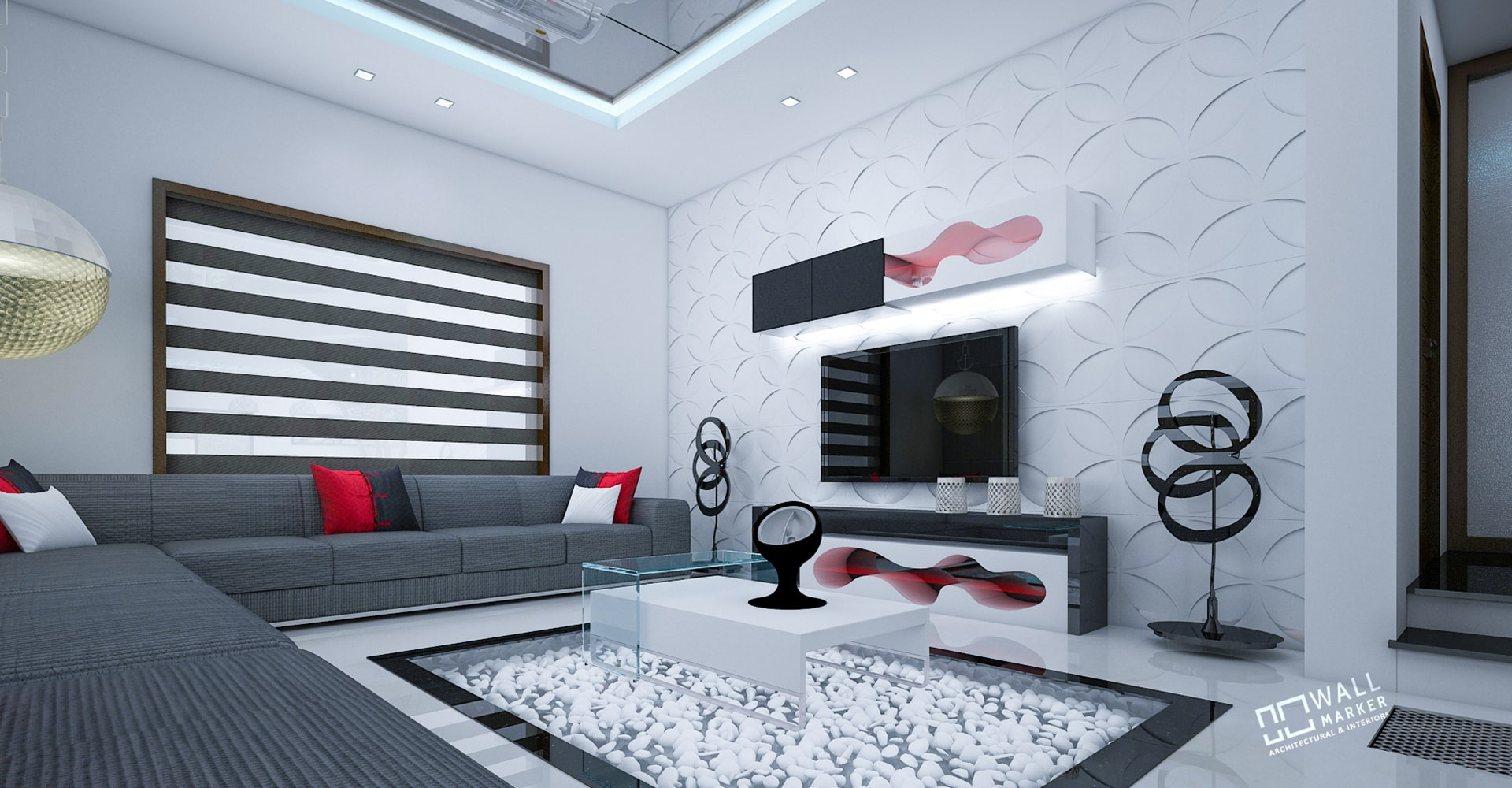 Living Room With TV Cabinate