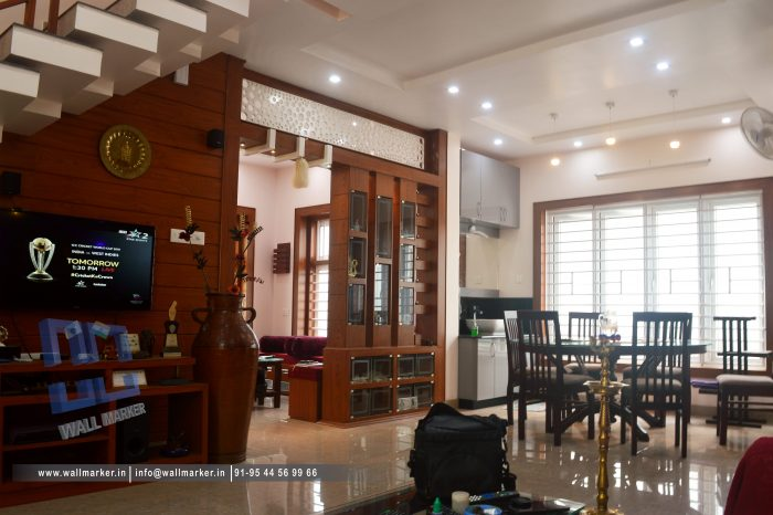 Living room design @Thalassery